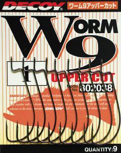 Крючок Decoy Worm 9 Upper Cut 3/0, 7шт