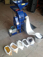 Дробилка (измельчитель) бичевая универсальная ДКУ- 600 с двигателем 3 кВт (220В)
