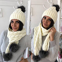 Шапка и шарф мд8818