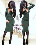 Женское стильное платье-миди с молнией из рибаны (4 цвета), фото 4