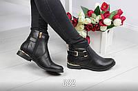 Ботинки женские на молнии черные, ботинки женские весна осень, 36 размер