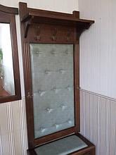 Вешалка с банкеткой и зеркалом 7
