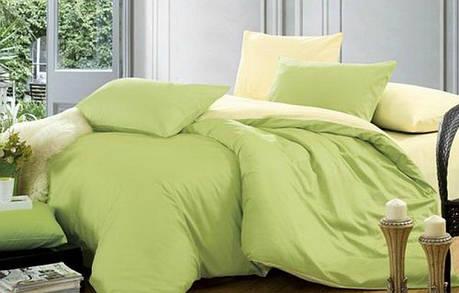 Постельное белье Сатин однотонный микс №17+№060 ТМ Комфорт-текстиль (Двуспальный), фото 2