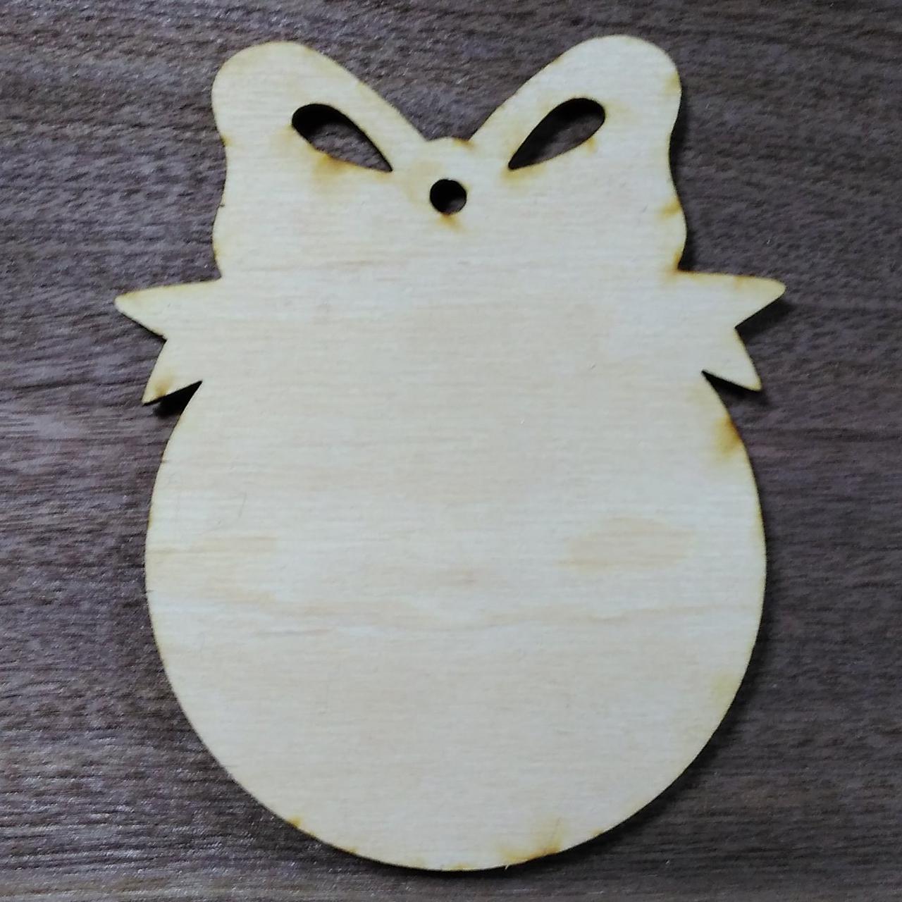 Ёлочная игрушка деревянная
