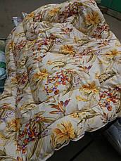 Теплое одеяло из овечьей шерсти 195х215. Хлопок. Цвета разные., фото 2