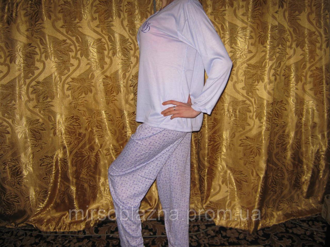 Пижама женская  100% хлопок розовая и сиреневая размер XL (48-50)