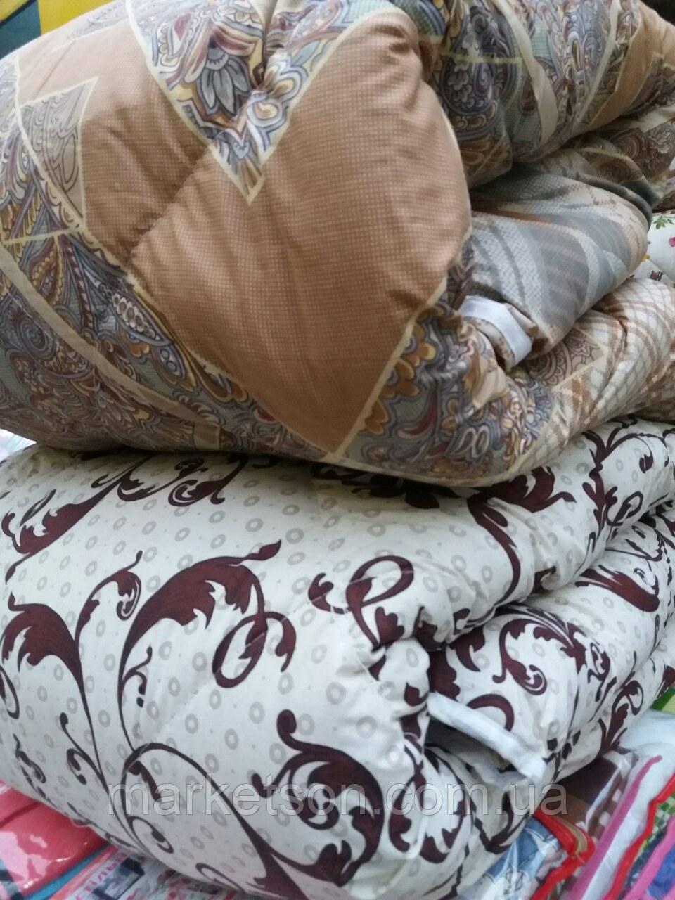 Теплое одеяло из овечьей шерсти 195х215. Хлопок. Цвета разные.