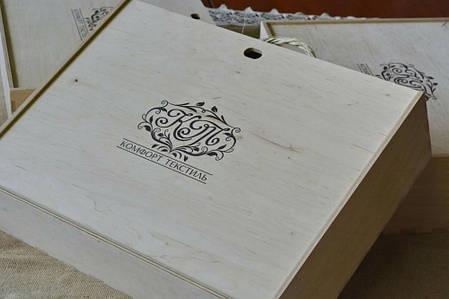 Постельное белье из льна Темный шоколад №1397 ТМ Комфорт-текстиль (Двуспальный), фото 2