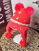 Зимняя шапка для девочки. 48-54 см, фото 1