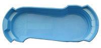 """Стеклопластиковый (стекловолоконный) бассейн """"ЛИДЕР-2"""" 8,63 х 3,335 х 1,6-1,1м, с перепадом глубины"""