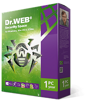 Dr.web Security Space (1 год, 1 пк) антивирус