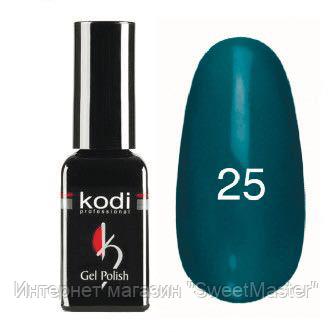 Гель-лак Коdi №25 темно-берюзовый, эмаль 8 ml