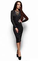Стильне темно-сіре вечірнє плаття-міді Shardone (S-M, M-L)