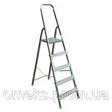 Стремянка алюминиевая ITOSS 915 - 5 ступ., рабочая высота 3,1 м, длина 1,75 м, высота площ. 1,02 м BPS