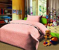"""Комплект постельного белья """"Звездопад персикоый"""" в кроватку"""