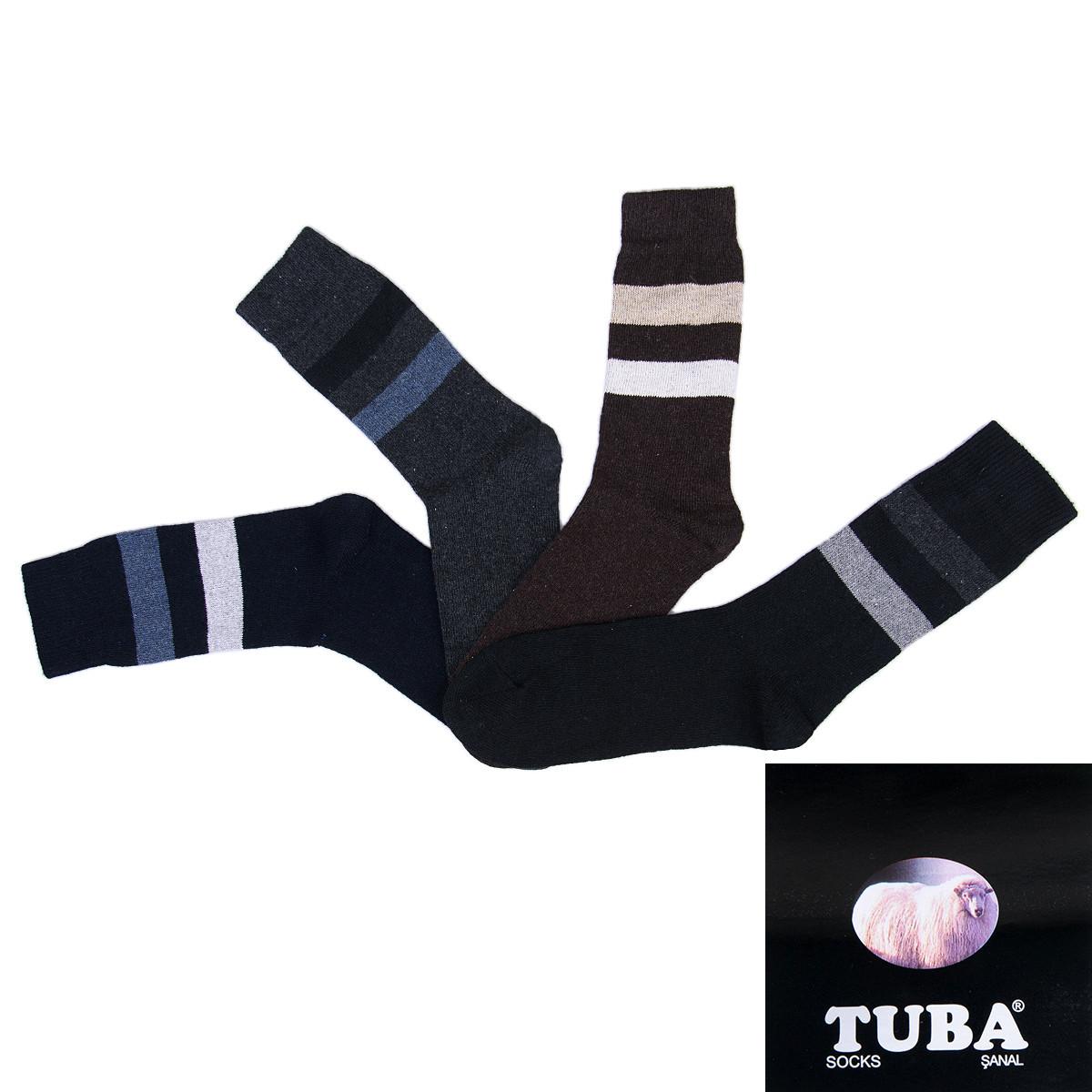 Мужкие носки оптом шерстяные полосатые зима 2018 TUBA Турция TLK-035