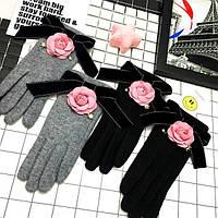 Шикарные женские перчатки на флисе, фото 1