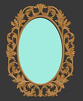 Модель овальной рамы для зеркала