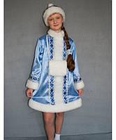 Новогодний карнавальный костюм Снегурочка №1-1 рост 125-140