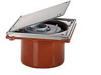 HL98 ревизия с крышкой с нержавеющей стали, для канализационных труб, DN110