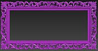 Модель прямоугольной рамы для зеркала