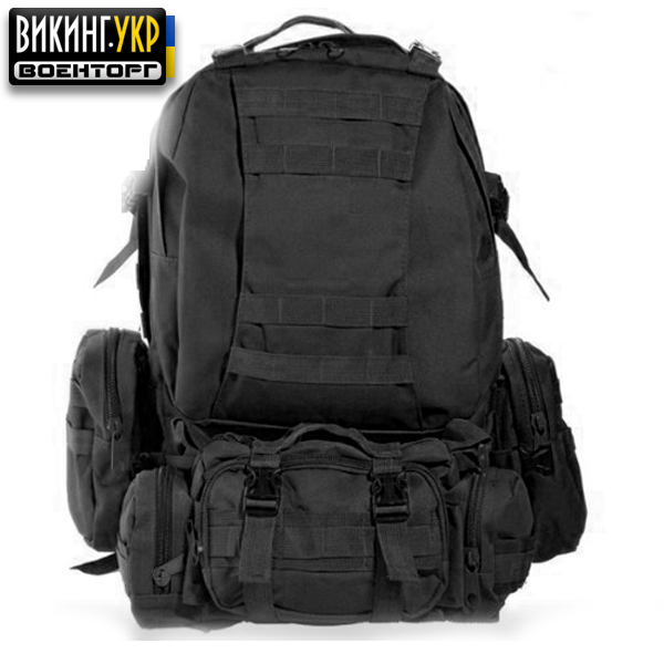 РЮКЗАК TACTICAL HIKING PACK BLACK