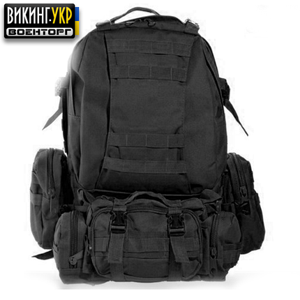 РЮКЗАК TACTICAL HIKING PACK BLACK, фото 2