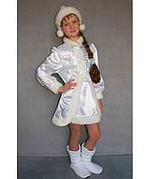Новогодний карнавальный костюм Снегурочка №3-1 рост 125-140