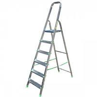 Стремянка алюминиевая ITOSS 916 - 6 ступ., рабочая высота 3,3 м, длина 1,97 м, высота площ. 1,23 м BPS