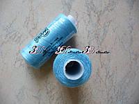 Нитки швейные №055 голубой 100% полиэстер 400 ярдов