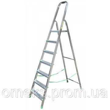 Стремянка алюминиевая ITOSS 917 - 7 ступ., рабочая высота 3,5 м, длина 2,2 м, высота площ. 1,44 м BPS