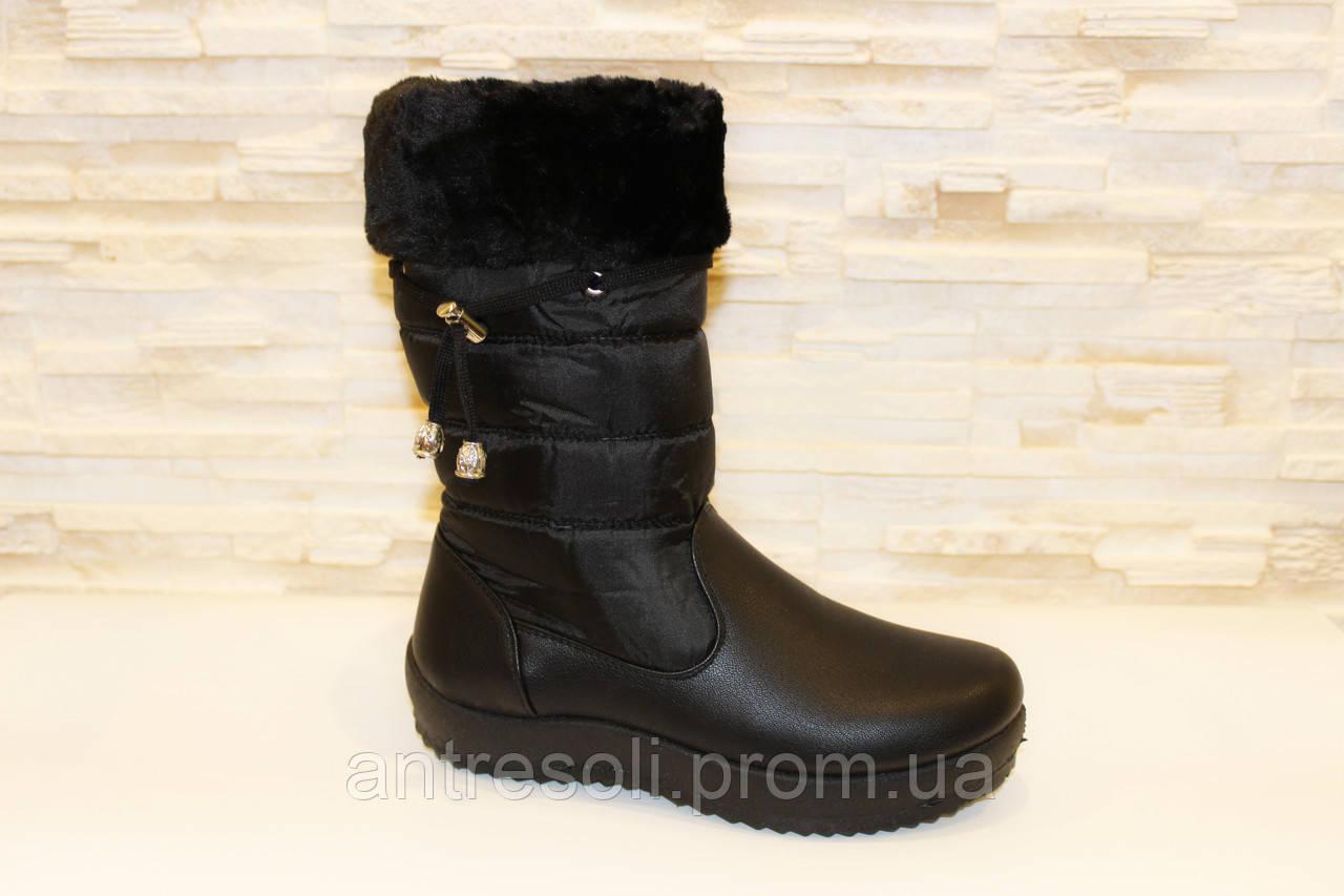 Сапоги зимние женские черные С492 р 40