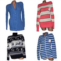 Женские вязанные свитера, туники, платья