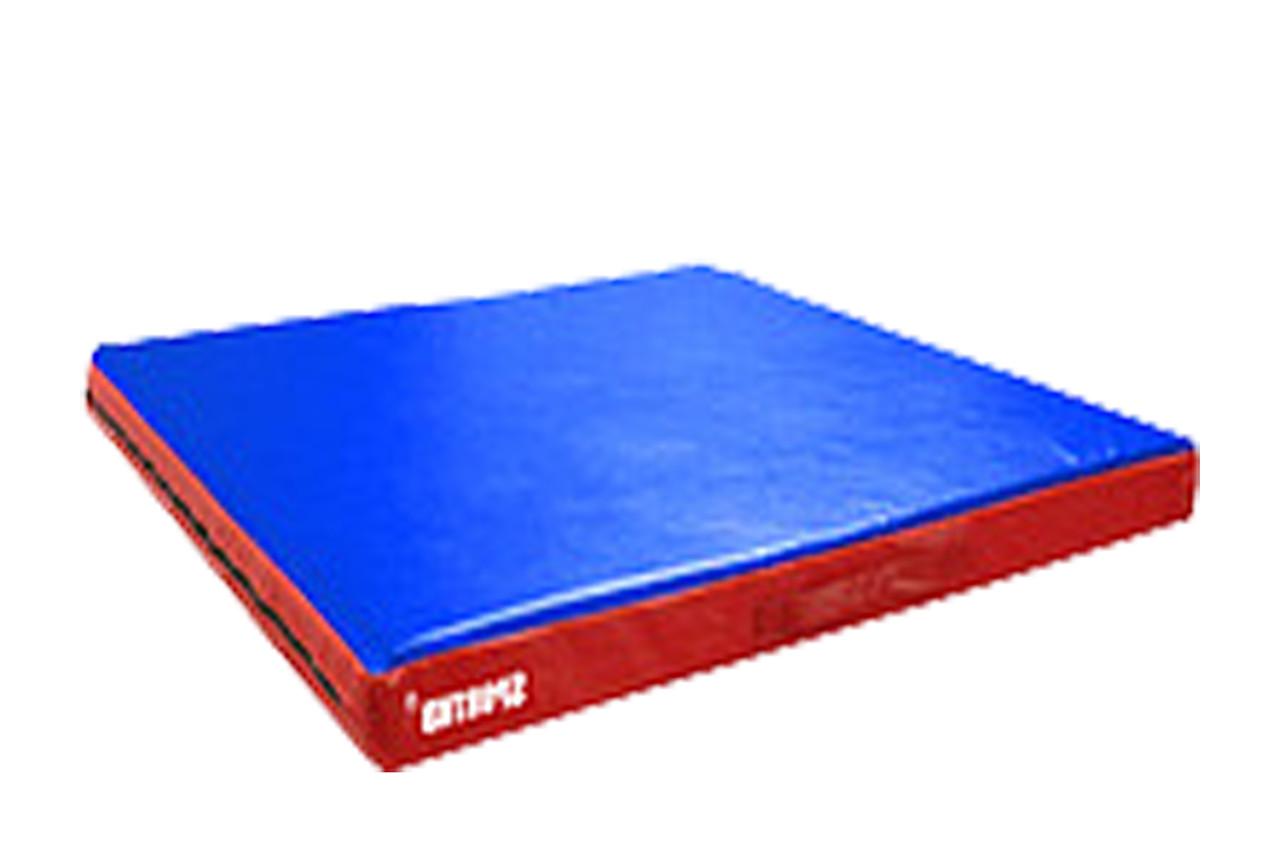 Детский спортивный мат для занятий борьбой и гимнастикой (кожвинил) 1м*1м*10см.