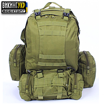 РЮКЗАК TACTICAL HIKING PACK BLACK, фото 3