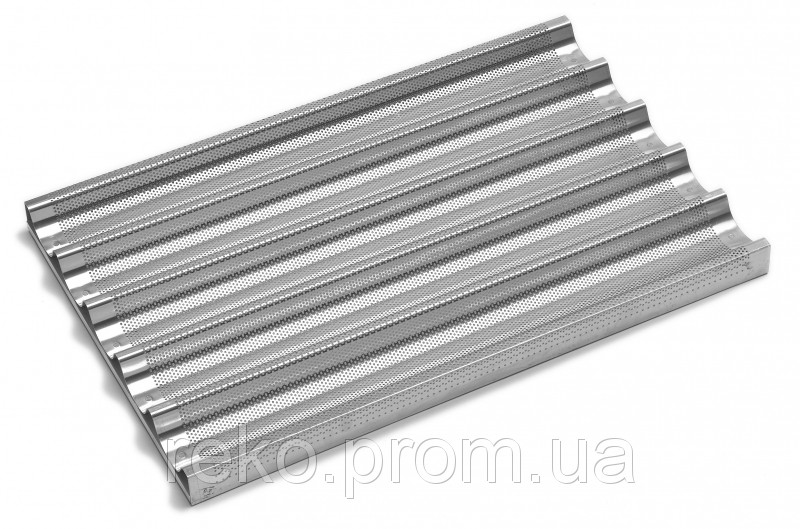 Противни алюминиевые волнистые с перфорацией 600х400 мм