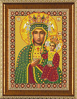 Схема для вышивки бисером икона Богородица Ченстоховская