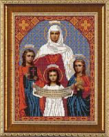 Схема для вышивки бисером икона Святые Вера, Надежда, Любовь и мать София