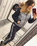 Женский модный теплый зимний костюм с опушкой: куртка с узором и штаны (9 цветов), фото 6