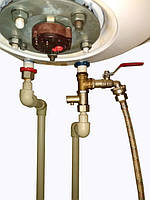Схема слива воды из бака бойлера для очистки.