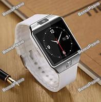 Смарт часы DZ09 белого цвета. Умные Часы-Телефон Smart watch Phone DZ09 в фирменной коробке