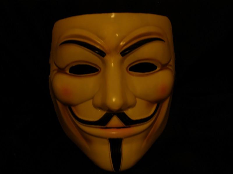 Маска Гая Фокса Кремовая V Вендетта  Анонимуса