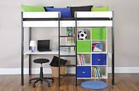 Кровать-чердак с письменным столом и стелажом
