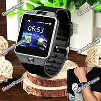 Смарт часы DZ09 черного цвета. Умные Часы-Телефон Smart watch Phone DZ09 в фирменной коробке
