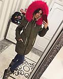 Зимняя женская стильная парка с мехом и капюшоном (6 цветов), фото 5
