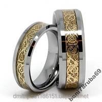 Шикарные обручальные кольца из вольфрама(оригинал)