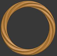 Рамка декоративная круглая модель