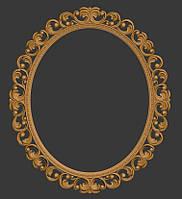 3D модель рамы для овального зеркала, фото 1