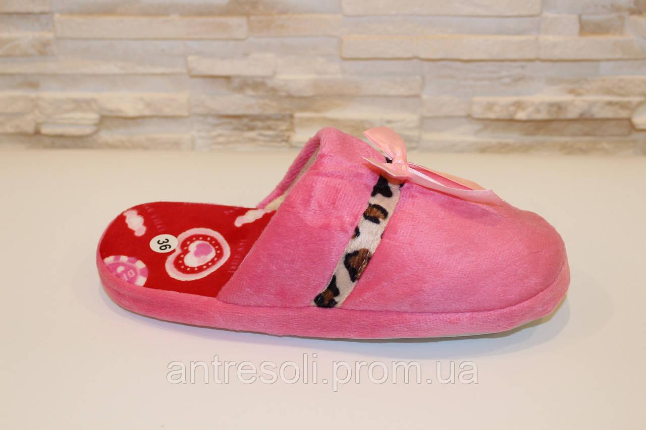 Тапочки комнатные женские розовые Тп34 р 36-37 38-39
