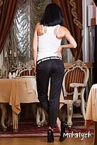М163 Женские брюки укороченные  черный, фото 3